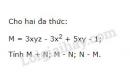 Bài 31 trang 40 sgk toán 7 - tập 2