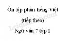 Soạn bài Ôn tập phần tiếng Việt (tiếp theo)