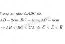 Bài 1 trang 55 sgk toán lớp 7- tập 2