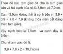 Bài 19 trang 63 sgk toán lớp 7- tập 2
