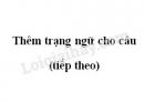 Soạn bài Thêm trạng ngữ cho câu (tiếp theo)