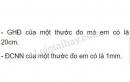 Bài C5 trang 7 sgk vật lý 6