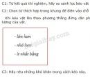 Bài C1, C2, C3 trang 42 SGK vật lý 6
