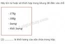 Bài C4 trang 18 SGK Vật lí 6