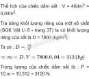 Bài C6 trang 38 SGK Vật lí 6