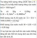 Bài C7 trang 38 SGK Vật lí 6