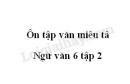 Soạn bài Ôn tập văn miêu tả trang 120 SGK Văn 6