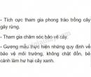 Bài 4 trang 76 SGK Sinh học 6