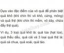 Bài 1 trang 107 SGK Sinh 6