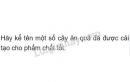 Bài 3 trang 145 SGK Sinh học 6