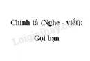 Chính tả (Nghe - viết): Gọi bạn trang 29 SGK Tiếng Việt 2 tập 1