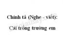 Chính tả (Nghe - viết): Cái trống trường em trang 46 SGK Tiếng Việt 2 tập 1