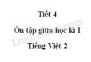 Tiết 4 - Ôn tập giữa học kì I trang 71 SGK Tiếng Việt 2 tập 1