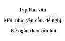 Tập làm văn: Mời, nhờ, yêu cầu, đề nghị. Kể ngắn theo câu hỏi trang 69 SGK Tiếng Việt 2 tập 1