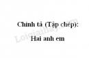 Chính tả (Tập chép): Hai anh em trang 120 SGK Tiếng Việt 2 tập 1