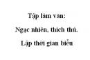 Tập làm văn: Ngạc nhiên, thích thú. Lập thời gian biểu trang 146 SGK Tiếng Việt 2 tập 1