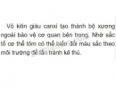 Bài 1 trang 76 SGK Sinh học 7
