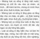 Bài 1 trang 112 SGK Sinh học 7