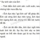 Bài 4 trang 115 SGK Sinh học 7