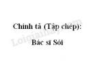 Chính tả (Tập chép): Bác sĩ Sói trang 43 SGK Tiếng Việt 2 tập 2