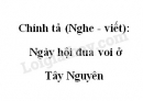 Chính tả (Nghe - viết): Ngày hội đua voi ở Tây Nguyên trang 48 SGK Tiếng Việt 2 tập 2
