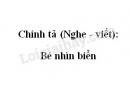 Chính tả (Nghe - viết): Bé nhìn biển trang 66 SGK Tiếng Việt 2 tập 2