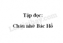 Soạn bài Tập đọc: Cháu nhớ Bác Hồ trang 105 SGK Tiếng Việt 2 tập 2