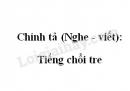 Chính tả (Nghe - viết): Tiếng chổi tre trang 122 SGK Tiếng Việt 2 tập 2