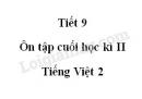 Tiết 9 - Ôn tập cuối học kì II  trang 145 SGK Tiếng Việt 2 tập 2