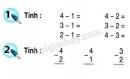 Bài 1, bài 2, bài 3 trang 56 sgk toán lớp 1