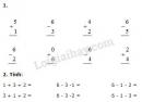 Bài 1, 2, 3, 4, 5 trang 67 SGK Toán 1