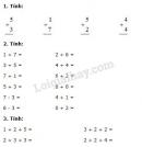 Bài 1, 2, 3, 4 trang 71, 72 SGK Toán 1