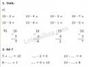 Bài 1, bài 2, bài 3 trang 85 sgk toán lớp 1