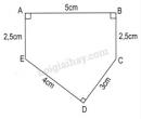 Bài 3 trang 170 sgk toán 5 luyện tập chung