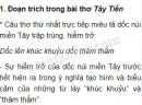 Cảm nhận của anh/chị về hai đoạn trích trong bài thơ Việt Bắc và Tây Tiến