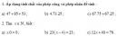 Thử tài bạn trang 33 Tài liệu dạy – học toán 6 tập 1