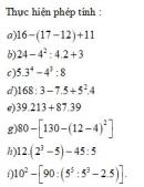 Bài 1 trang 59 Tài liệu dạy – học toán 6 tập 1