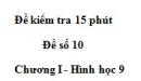 Đề kiểm tra 15 phút - Đề số 5 - Bài 3 - Chương 1 - Hình học 9