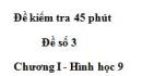 Đề kiểm tra 45 phút - Đề số 2 - Chương 1 - Hình học 9