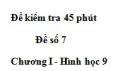 Đề kiểm tra 45 phút - Đề số 6 - Chương 1 - Hình học 9