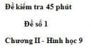 Đề kiểm tra 45 phút (1 tiết) - Đề số 1 - Chương 2 - Hình học 9