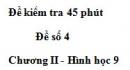 Đề kiểm tra 45 phút (1 tiết) - Đề số 4 - Chương 2 - Hình học 9