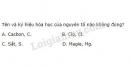 Bài 1 trang 30 Tài liệu dạy - học Hóa học 8 tập 1