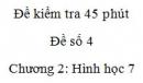 Đề kiểm tra 45 phút (1 tiết) - Đề số 4 - Chương 2 - Hình học 7