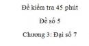 Đề kiểm tra 45 phút (1 tiết) - Đề số 5 - Chương  3 – Đại số 7
