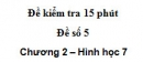 Đề kiểm tra 15 phút - Đề số 5 - Bài 6 - Chương 2 - Hình học 7