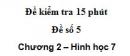 Đề kiểm tra 15 phút - Đề số 5 - Bài 7, 8 - Chương 2 - Hình học 7