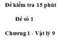 Đề kiểm tra 15 phút - Đề số 1 - Chương 1 - Vật lí 9