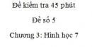Đề kiểm tra 45 phút (1 tiết) - Đề số 5 - Chương  3 - Hình học 7