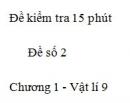 Đề kiểm tra 15 phút - Đề số 2 - Chương 1 - Vật lí 9
